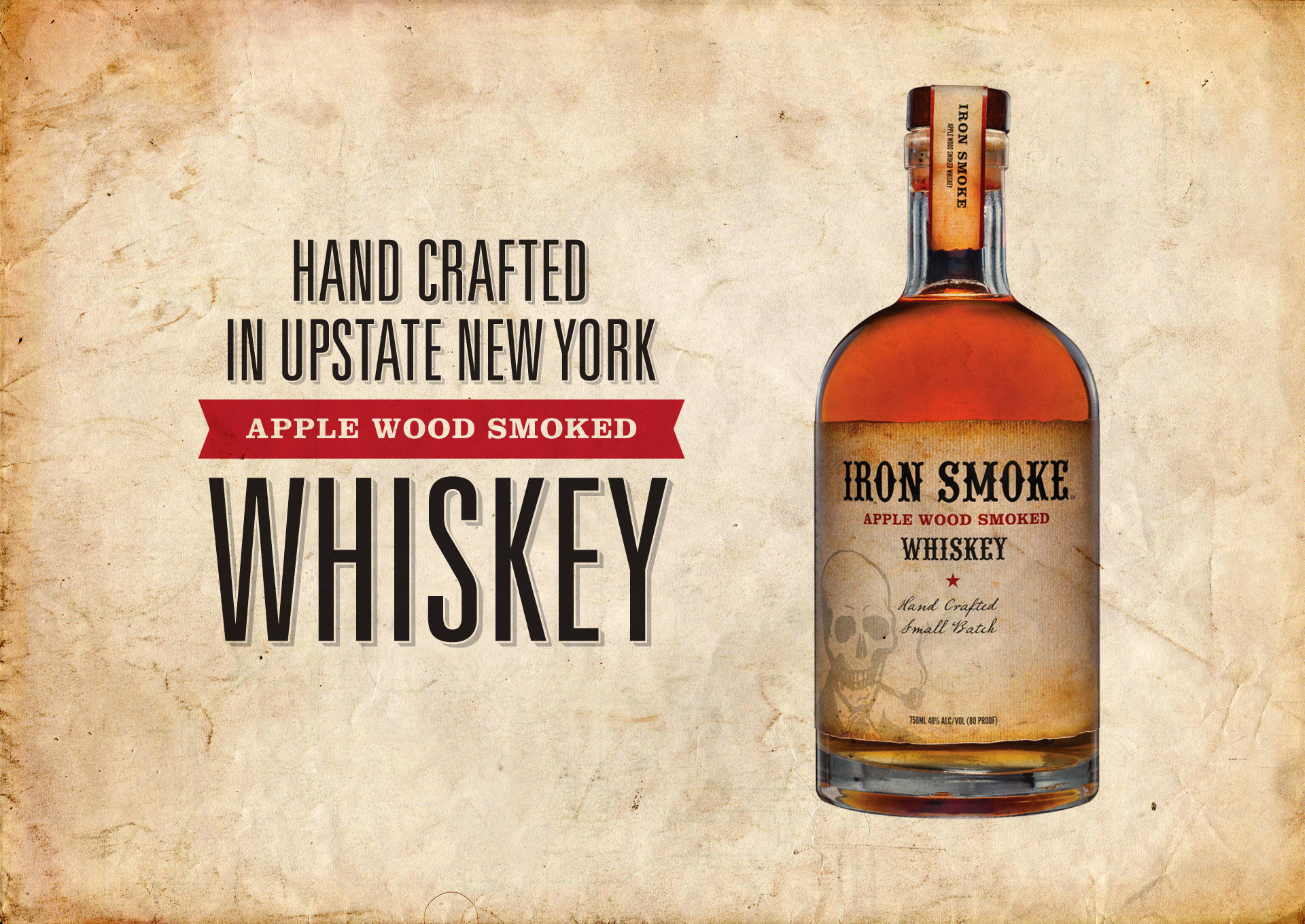 Iron Smoke Whiskey Bottle