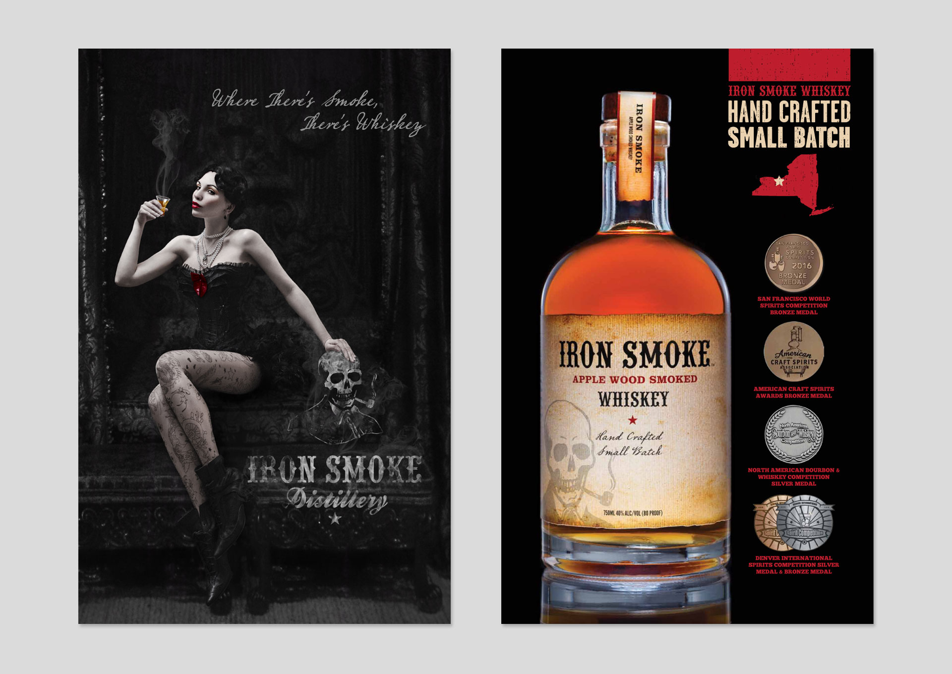 Iron Smoke Whiskey Posters