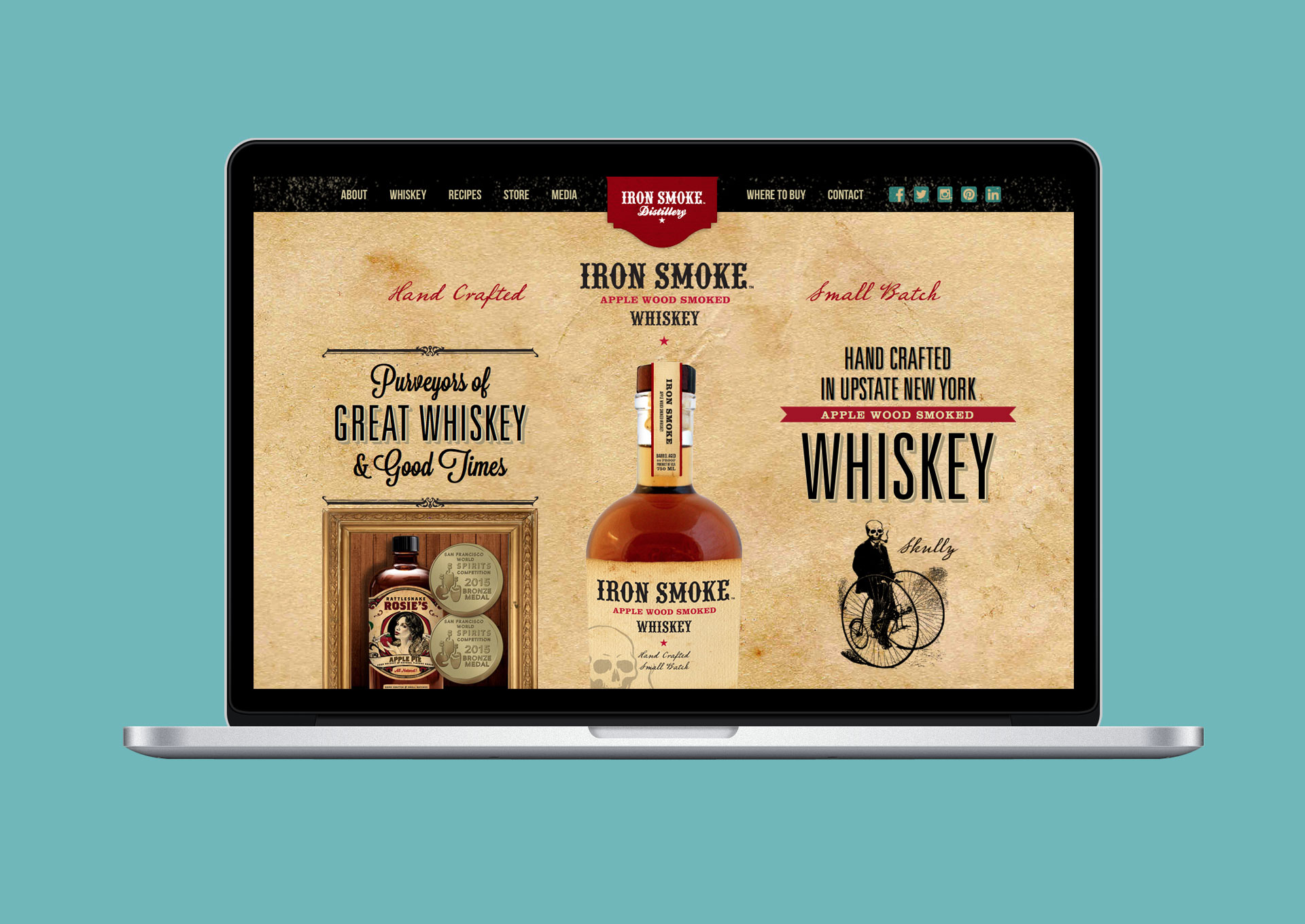 Iron Smoke Whiskey Website